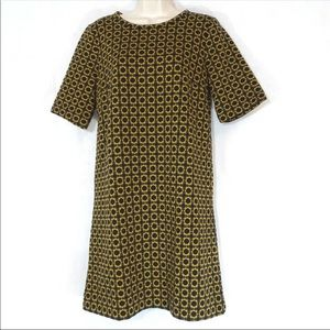 Loft geometric pattern short shift dress